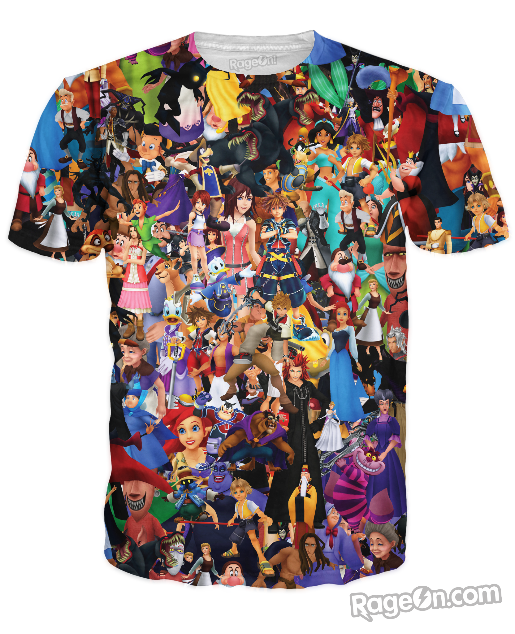 5dc16bb362b Kingdom Hearts Collage T-Shirt – RageOn! - The World s Largest All-Over-Print  Online Store