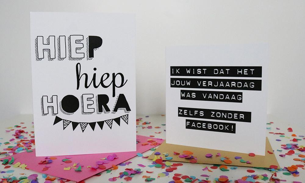 Favoriete Verjaardagskaartjes Maken En Printen | Janknegtfineart @VH48