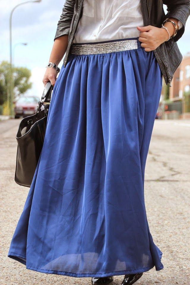 6837080f8 DIY Costura Maxi Falda | Sewing | Maxi faldas, Coser falda y Faldas