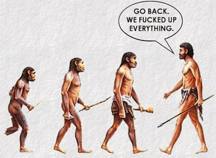 New Funny Illustration  Statistically, very few argue against the theory of evolution. 4