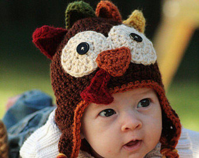 Crocheted Turkey Hat Pattern | erste Bestellung, einfache Muster und ...