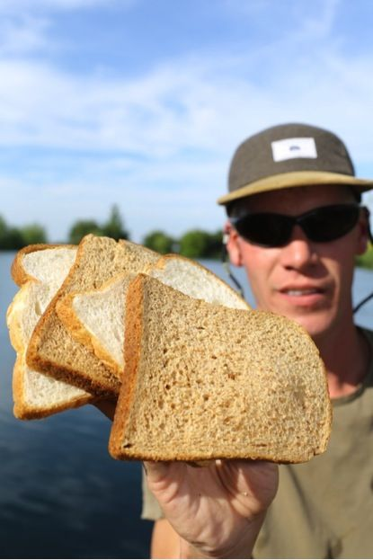 Alan blair carp fishing with bread baps bloomers for Fishing with bread