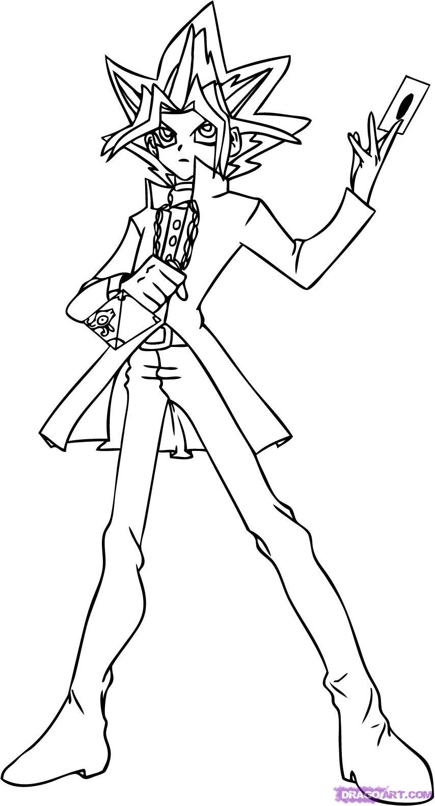 Yu Gi Oh Coloring Page Coloring Pages Coloring Pages To Print Cartoon Coloring Pages