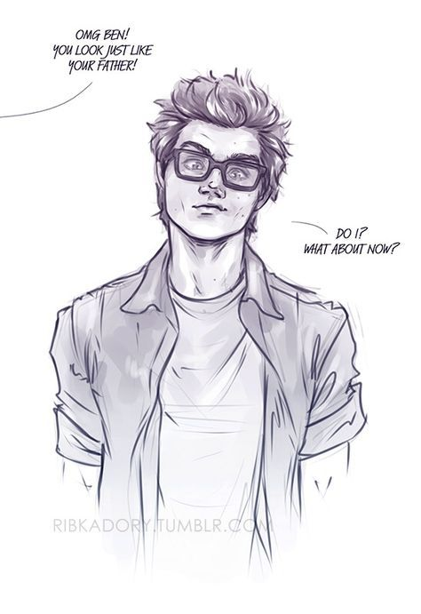 He Found Peter S Old Glasses Xd Well Now You Look Just Like Your Dadpool Ben Boy Drawing Guy Drawing Cute Drawings