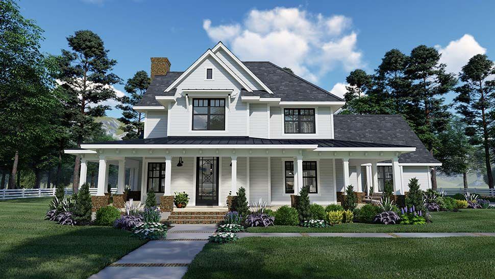 House Plan Chp 59416 At Coolhouseplans Com Farmhouse Style House Plans Farmhouse Style House House Plans Farmhouse