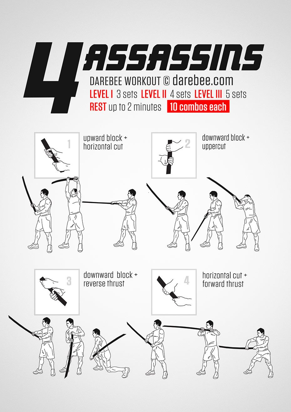 4 assassins workout assassins workout martial arts