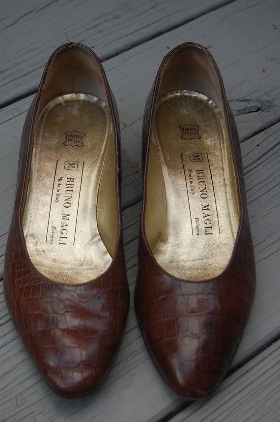 Vintage Tailored Classic Preppy Bruno Magli Flats Shoes by MaidenhairVintage, $24.00