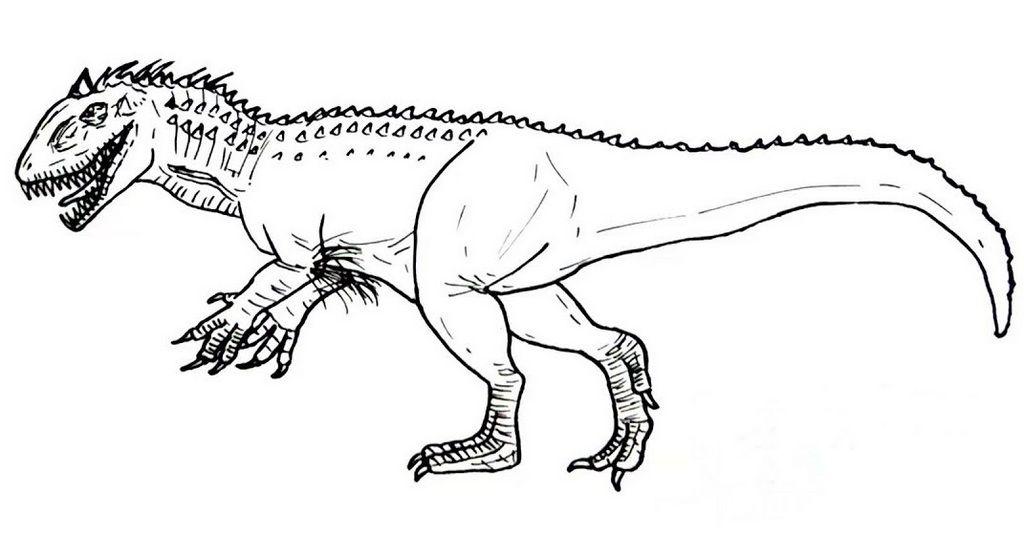 ausmalbilder spinosaurus kostenlos herunterladen oder