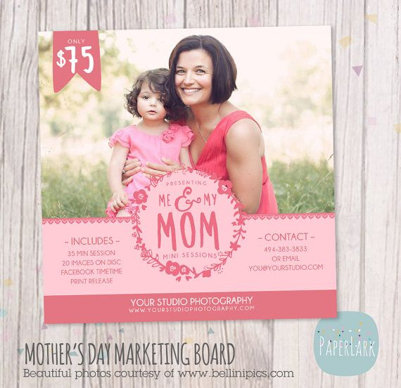 Mother's Day Template Mini Session Photoshop By
