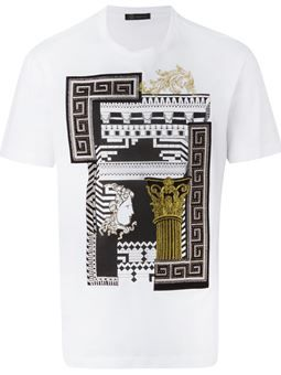 c426b99f Greek Graphic' T-shirt | Men fashion in 2019 | Versace t shirt ...