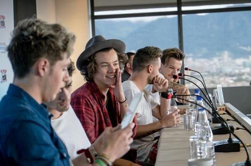 Harry's whispering to nobody