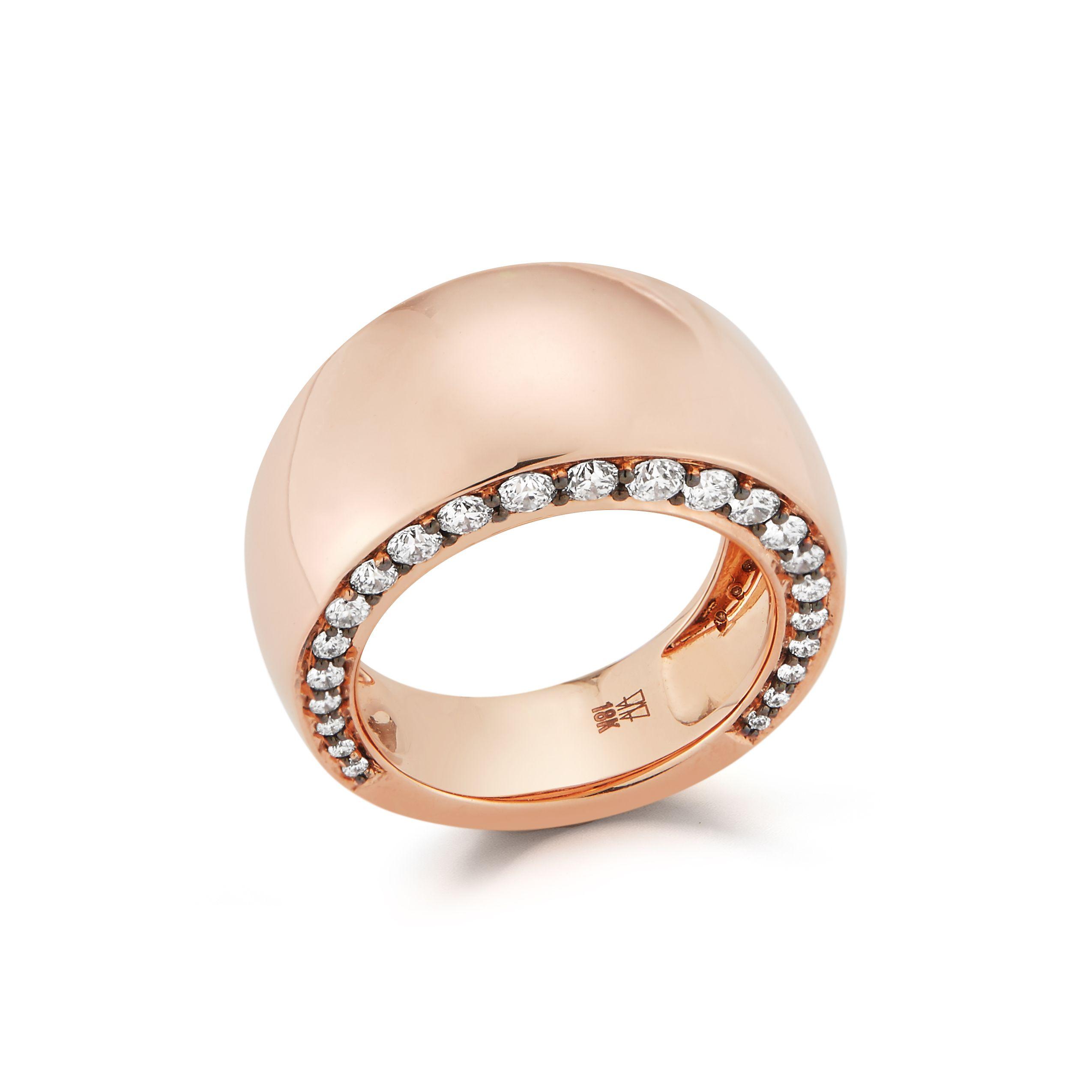 Walters Faith Ottoline 18K Rose Gold And Diamond Baguette Ring X9FtxPref