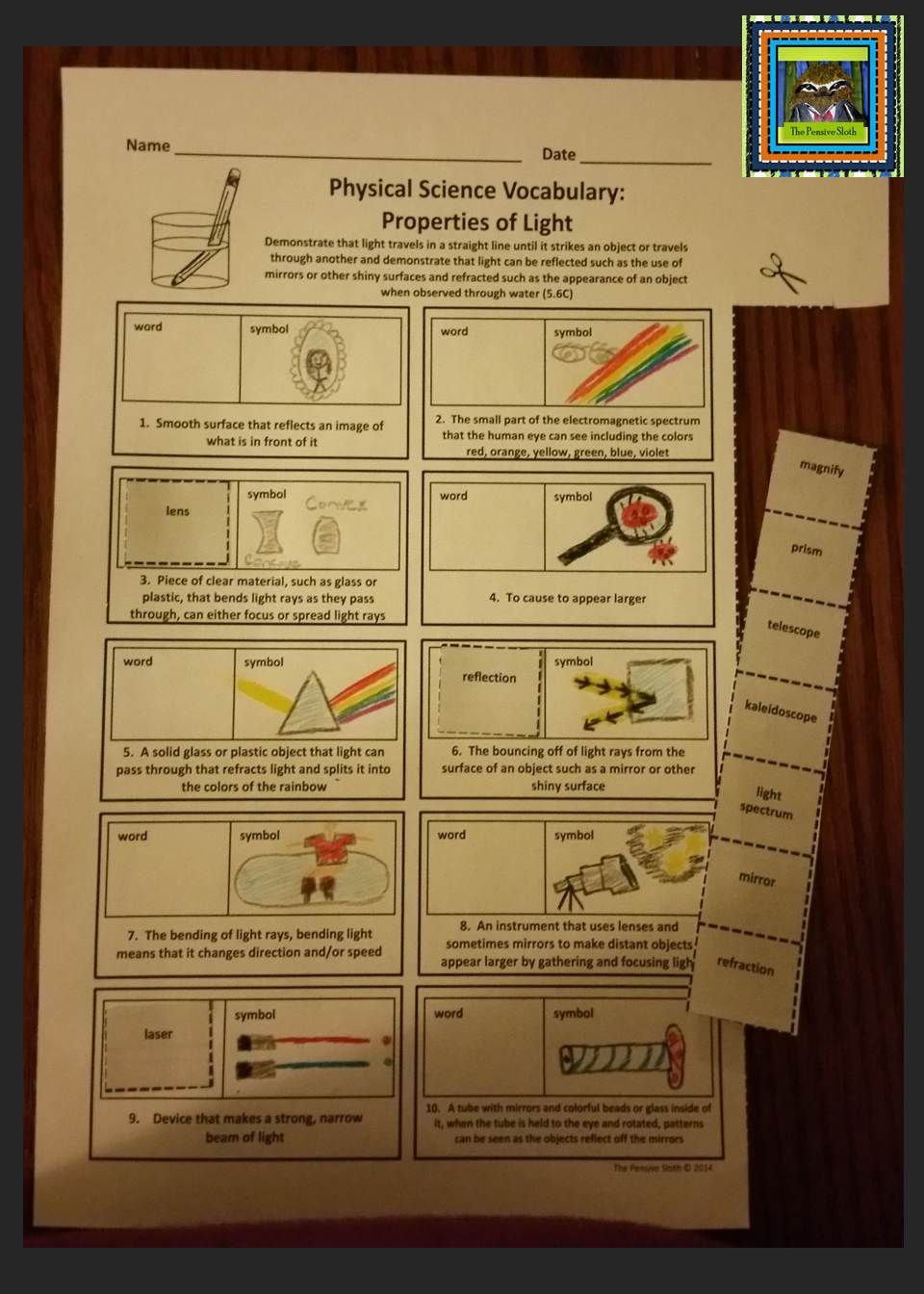 5th grade physical science staar matter solutions light energy properties of light vocabulary cut and paste activity including reflection and refraction great review for 5th grade science staar test fandeluxe Image collections