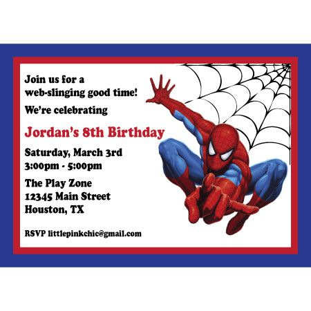 spiderman invites # pinterest++ for ipad # | parties for my boys, Birthday invitations
