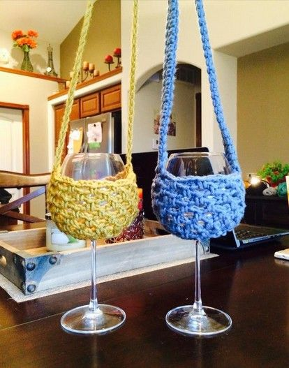 Crochet Wine Glass Holder Free Pattern