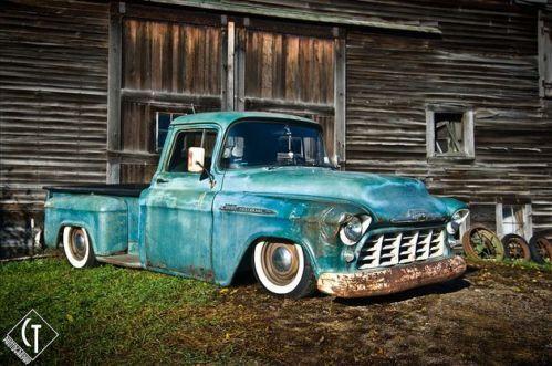Rat Rod Pickup Truck 1956 Chevy Patina W Modern Powertrain No