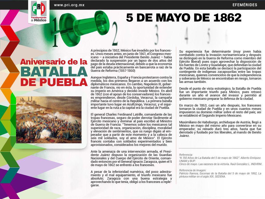 5 DE MAYO DE 1862. ANIVERSARIO DE LA BATALLA DE PUEBLA ...