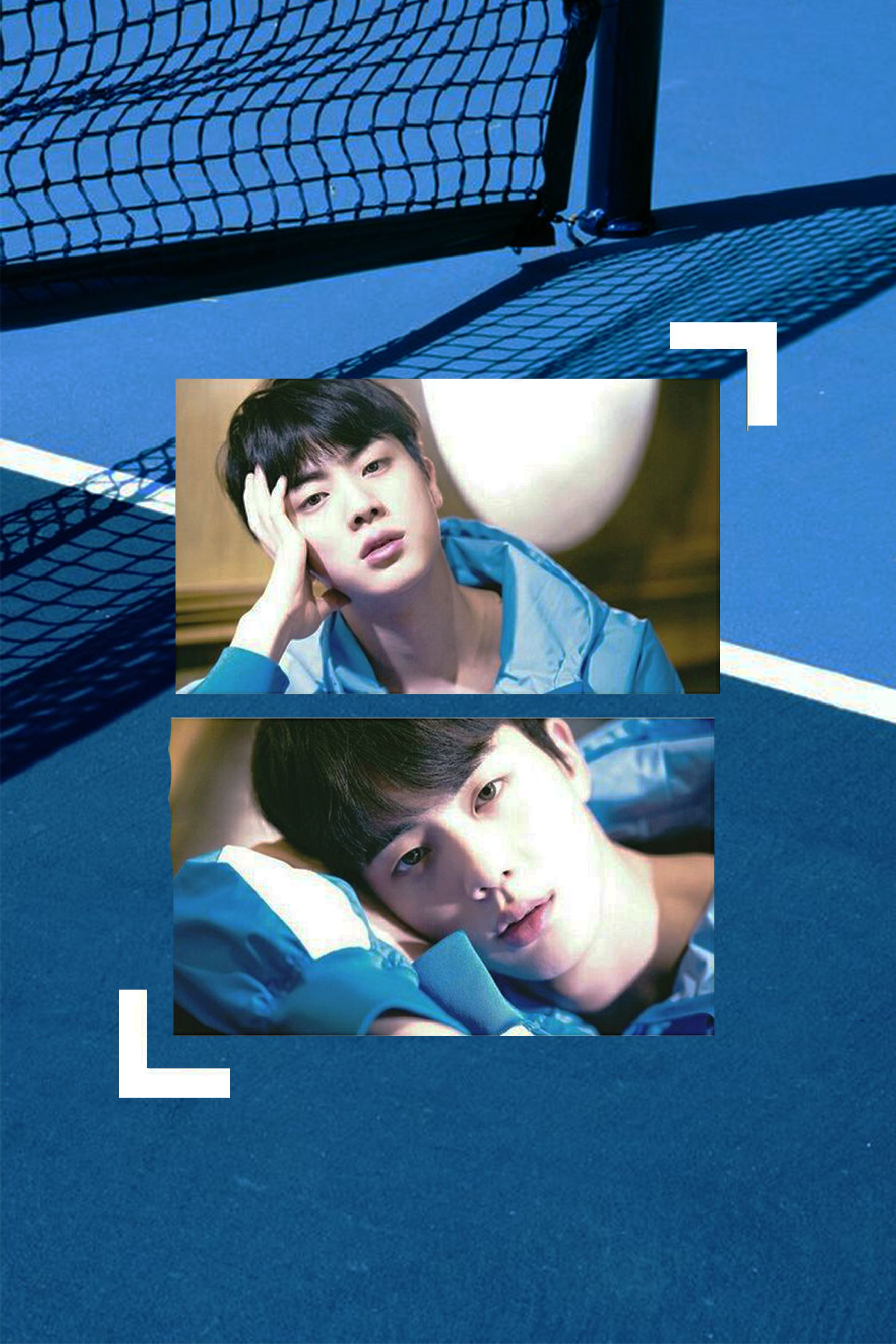 Kim Seokjin Blue Aesthetic Wallpaper Bts Jin Wallpaper I Forgot To Get The Owner Of The Bg Pic I Ll Look For It Again Bts