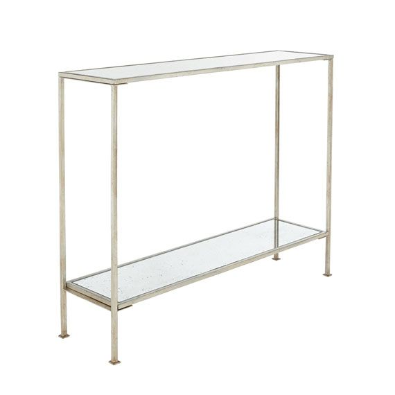 Rivulet Console Table Small Antique Silver