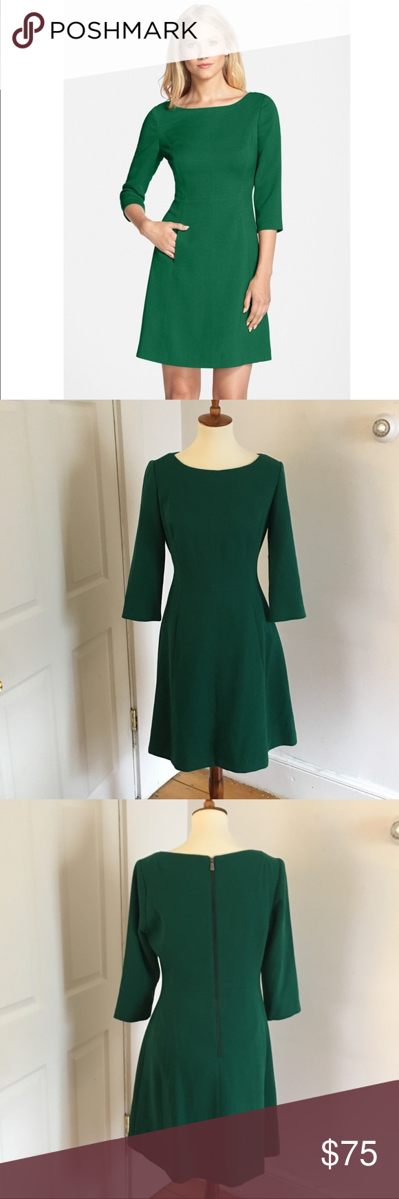 Hp Vince Camuto A Line Pocket Dress Dresses Pocket Dress A Line Dress [ 1740 x 580 Pixel ]