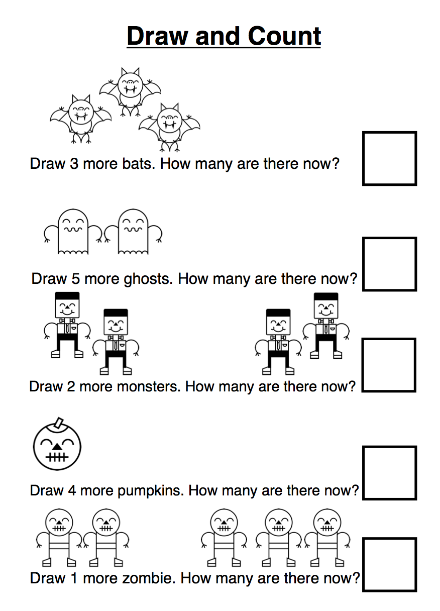 Various Maths Sheets for Primary School students - all halloween ...
