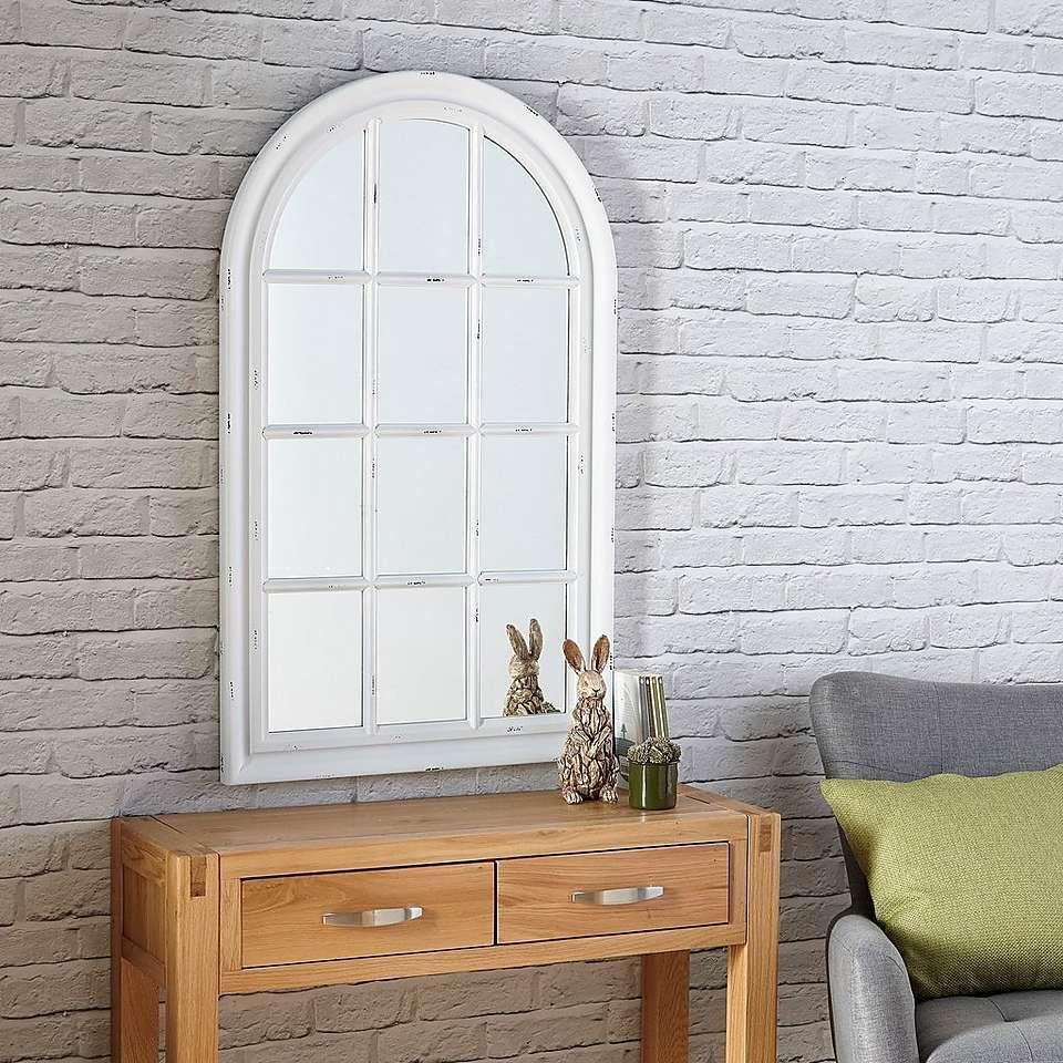 White Arch Window Mirror In 2019 Arched Window Mirror Window Mirror Arch Mirror