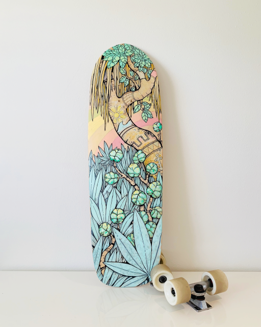 Jungle Coast Skateboard Planches De Skateboard Peinture Graffiti Skateboard
