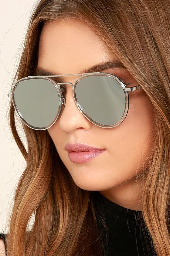 459c5b927511c  Lulus -  Lulus Perverse Werk Silver Mirrored Aviator Sunglasses -  AdoreWe.com