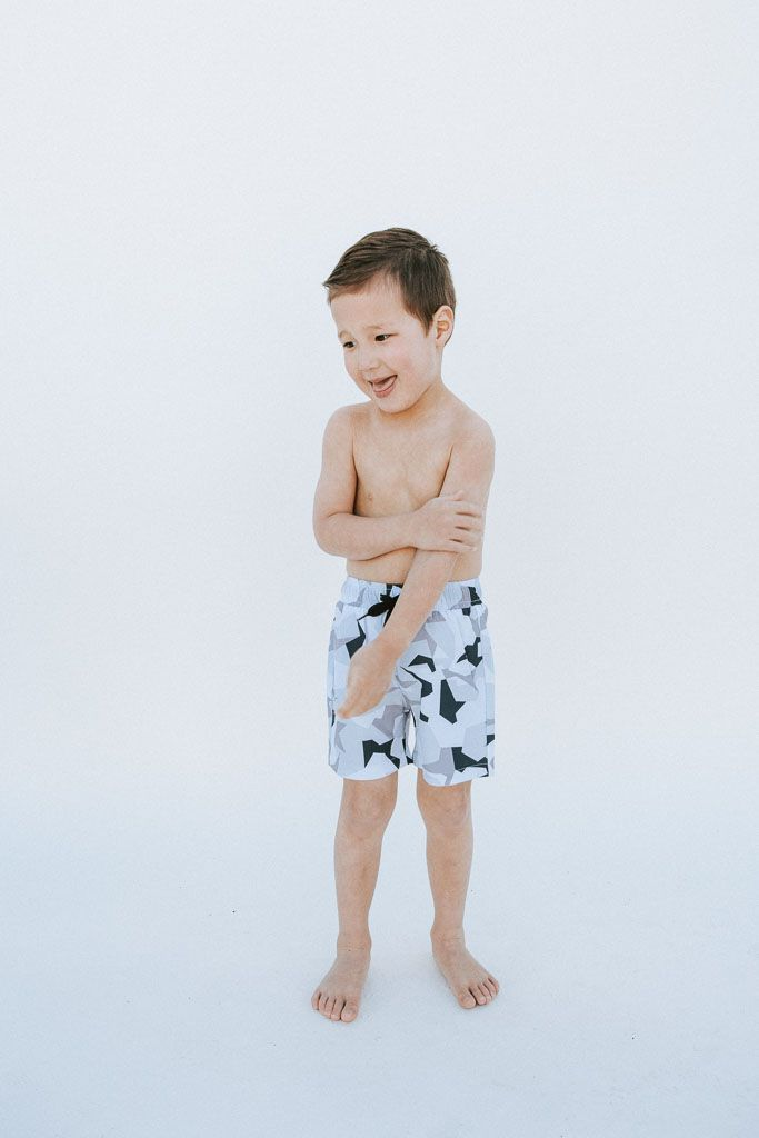57c0625c82 Little Boy's Swim Trunks // Kortni Jeane Swimmers // Urban Camo ...
