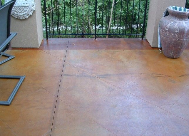 Staining Broom Finished Concrete