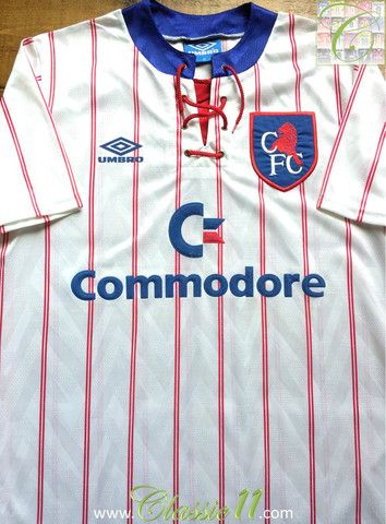 Download Relive Chelsea S 1991 1992 Season With This Vintage Umbro Away Football Shirt Chelsea Football Shirt Football Shirts Chelsea Football Club