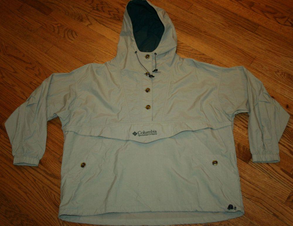 Columbia Windbreaker Pullover Hooded Jacket Women XL nylon/running ...