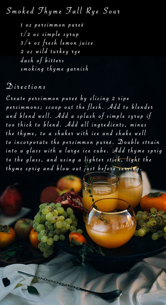 a smokey cocktail for a spooky weekend Halloween cocktails - halloween cocktail ideas