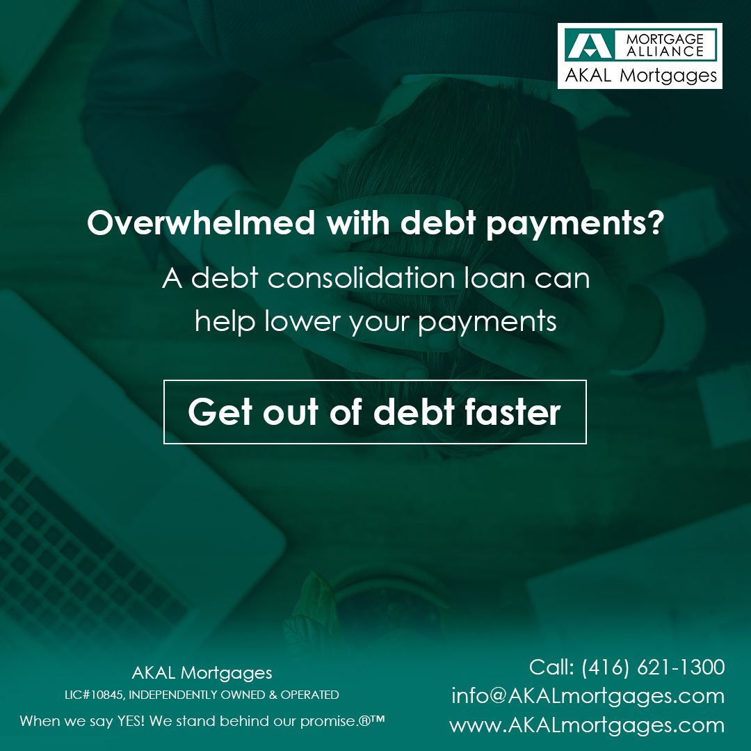 Overwhelmed with debt Payments? Debt Consolidation loan