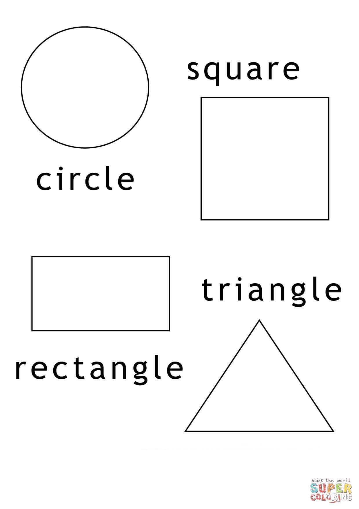 Basic Geometric Shapes coloring page from Shapes category