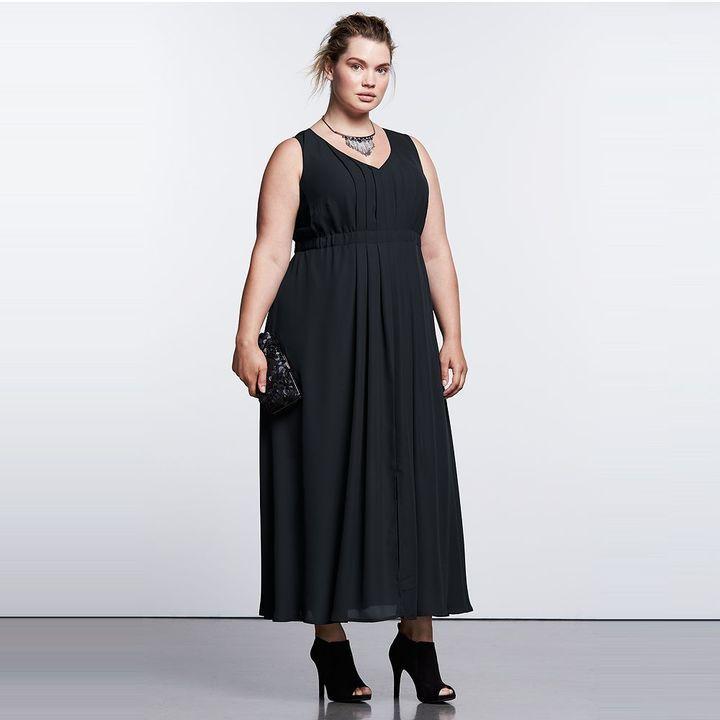 Plus Size Simply Vera Vera Wang Simply Noir High Low Maxi Dress At