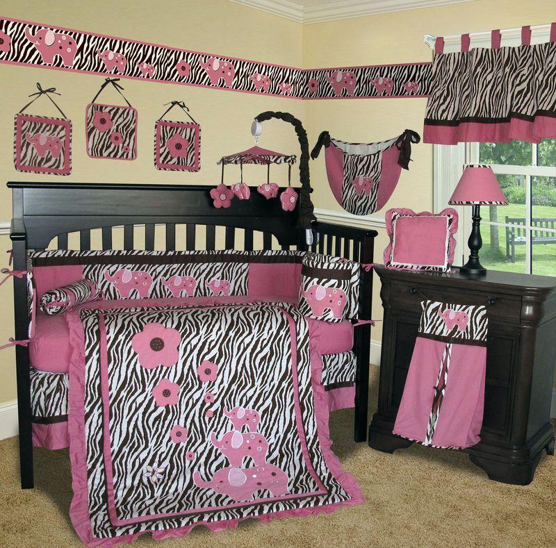 60b2c25711a56 Baby Boutique - Pink Zebra 13 PCS Crib Bedding Set