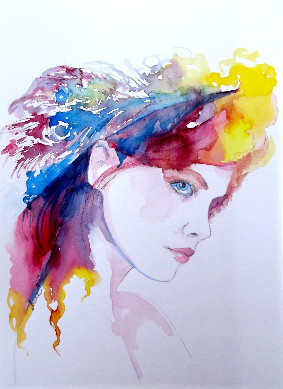 Watercolor artists websites - Fantasy Watercolor Painting Contemporary Fashion Illustration By Lana