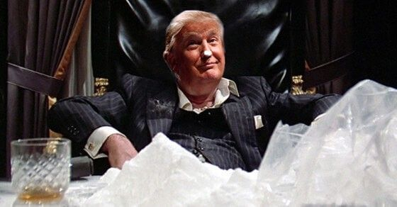 Trump suspected of being a cocaine addict! See http://www.dailykos.com/story/2016/10/10/1580238/-It-s-More-Than-Donald-Trump-s-Sniffles-that-Point-to-Cocaine-Use