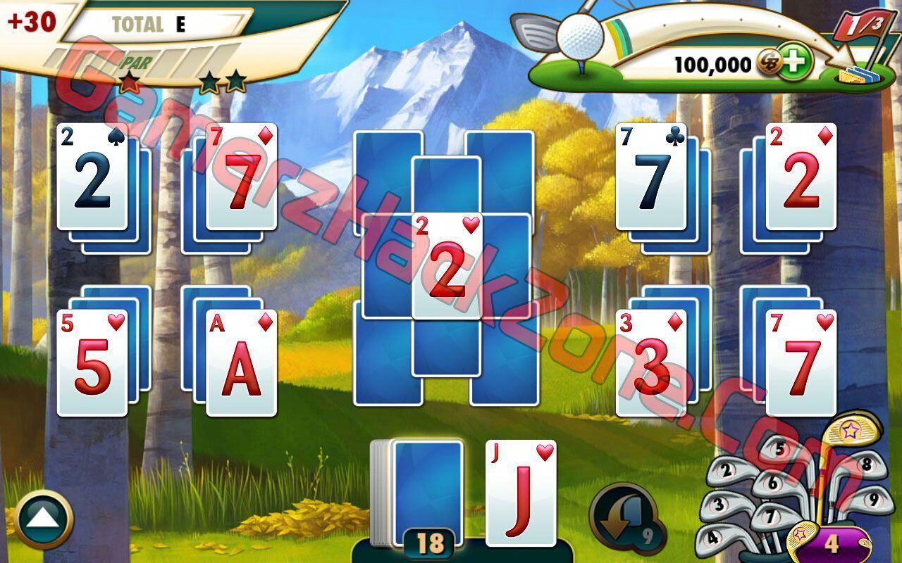 fairway solitaire hack screenshot2 golfcardgame Fairway