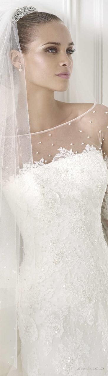 PRONOVIAS 2015 Glamour Bridal Collection  Love the gown as well as her make up.