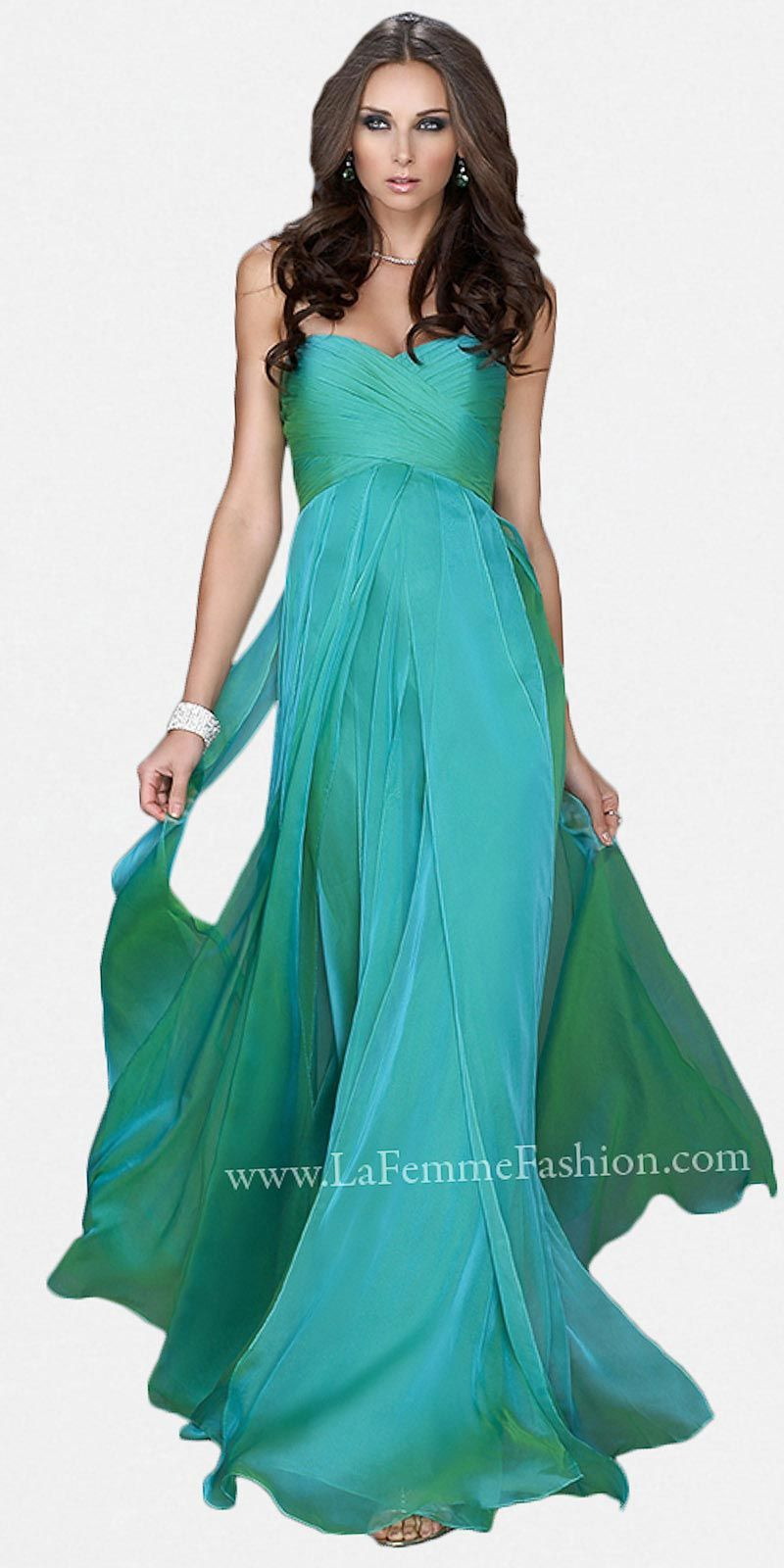 Jungle Green Classic Strapless Prom Dresses by La Femme at eDressMe ...