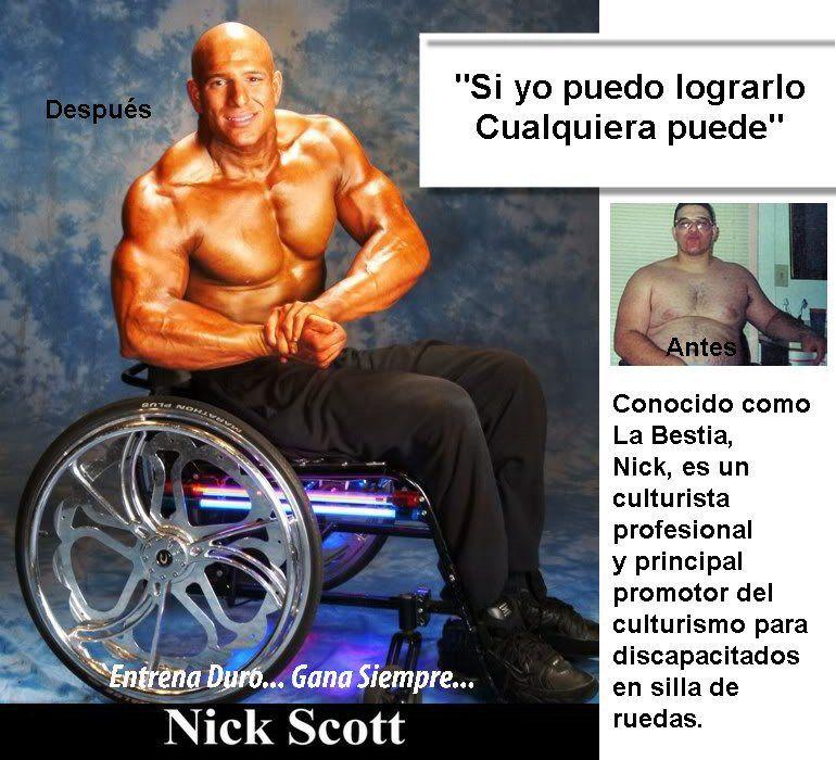 Nick Scott - Culturismo - Discapacitados http://williambodybuilder.com/ http://fuerzamaximawilliam.wordpress.com/