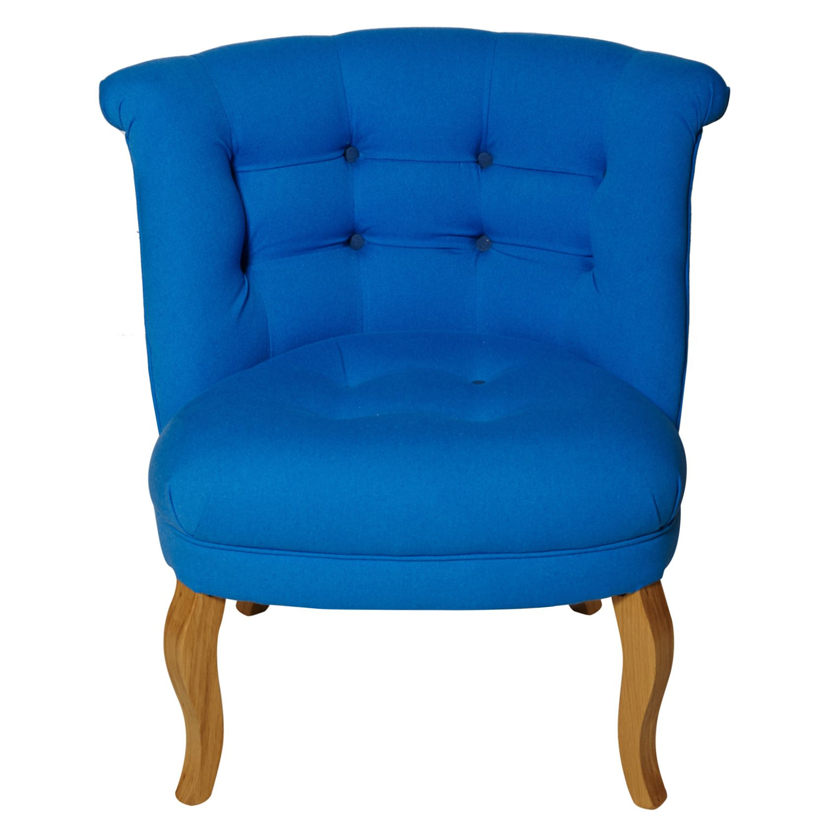 Buy the Cobalt Contrast Button Cotton Tub Chair at Oliver Bonas. We ...