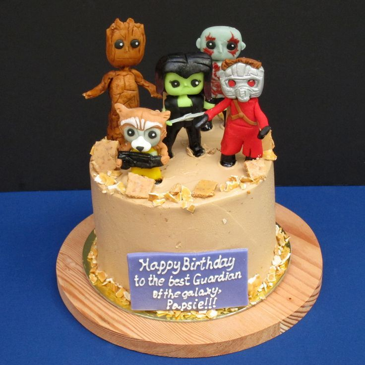 Guaddians Of The Galaxy Fondant Cakes