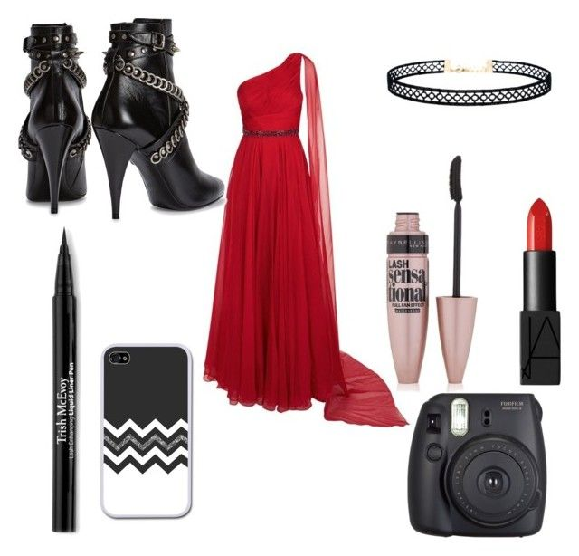 """#Prom"" by taylorjacobs27 on Polyvore featuring Jovani, NARS Cosmetics, Fuji, Maybelline, Trish McEvoy, Yves Saint Laurent and LULUS"