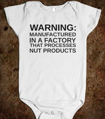 WARNING MANUFACTURED IN A FACTORY - From Bows to Toes - Skreened T-shirts, Organic Shirts, Hoodies, Kids Tees, Baby One-Pieces and Tote Bags...