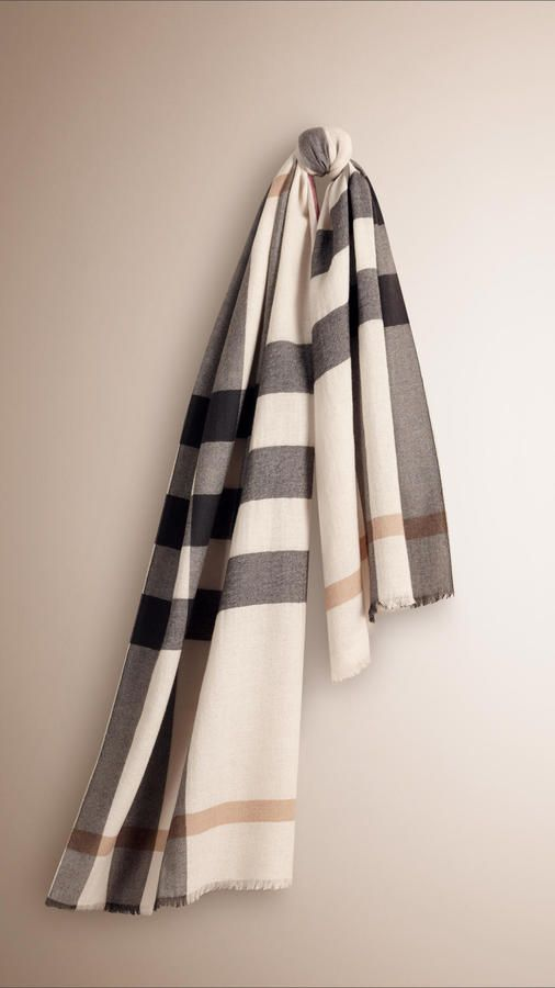 b3206021d59cb Burberry check cashmere scarf that will keep your neck stylishly warm on  ShopStyle
