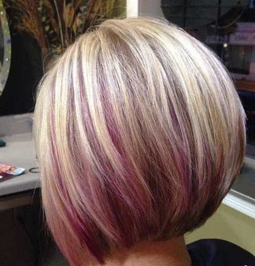 20 Short Haircuts With Reflections New Medium Hairstyles Purple Highlights Blonde Hair Hair Streaks Short Hair Color