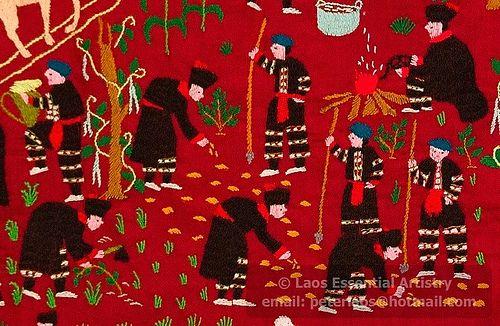 paj ntaub, Laos Essential Artistry